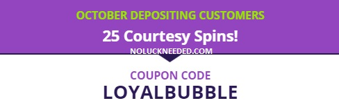 SlotoCash Coupons Halloween: 25 Free Spins Loyalty Bonus