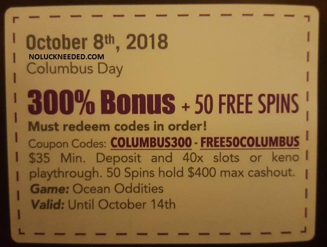slotocash bonus codes 2019