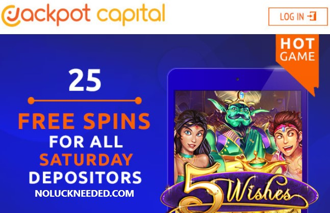 Jackpot Capital Casino Coupons 25 Free Spins Saturday 7 18